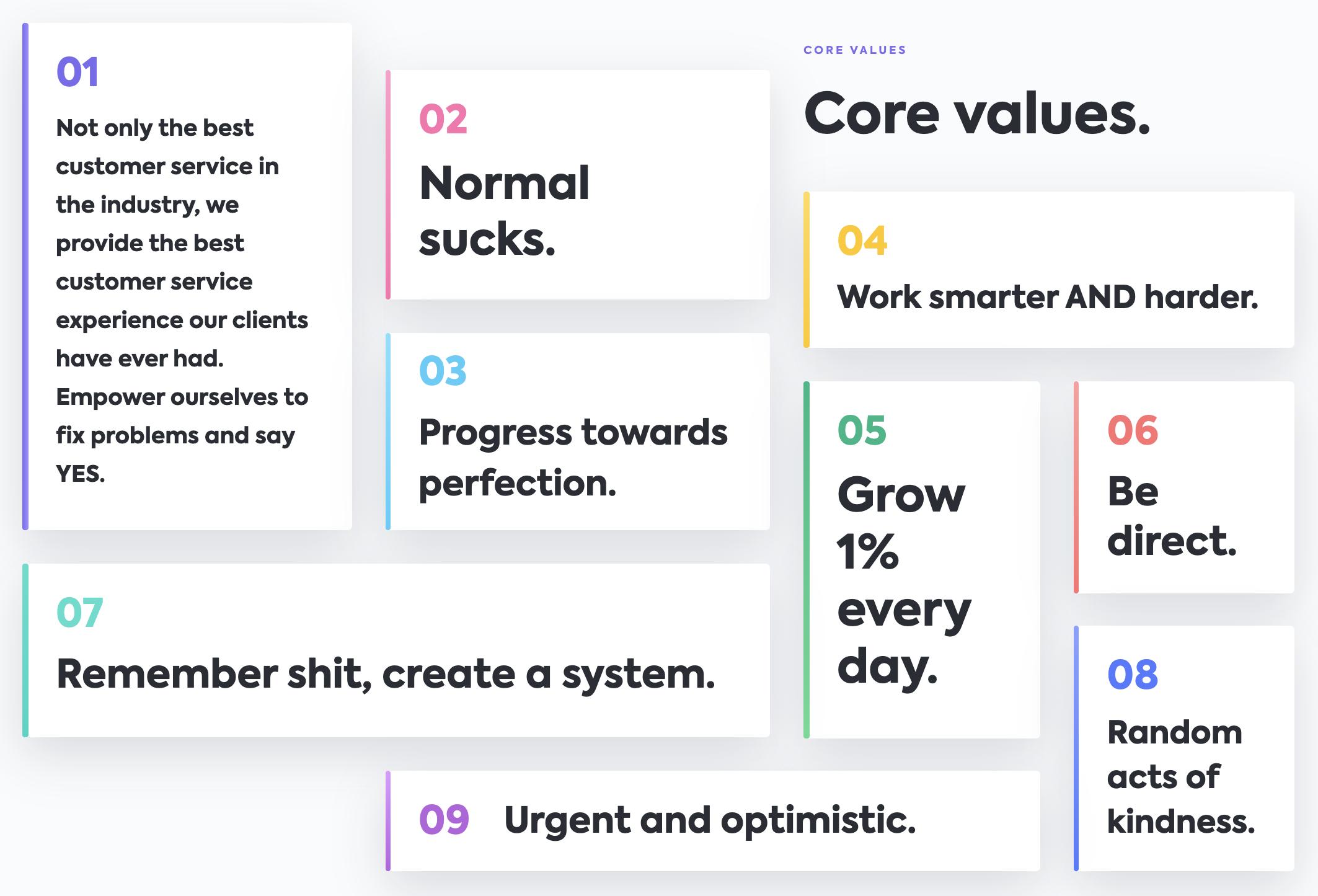ClickUp core values