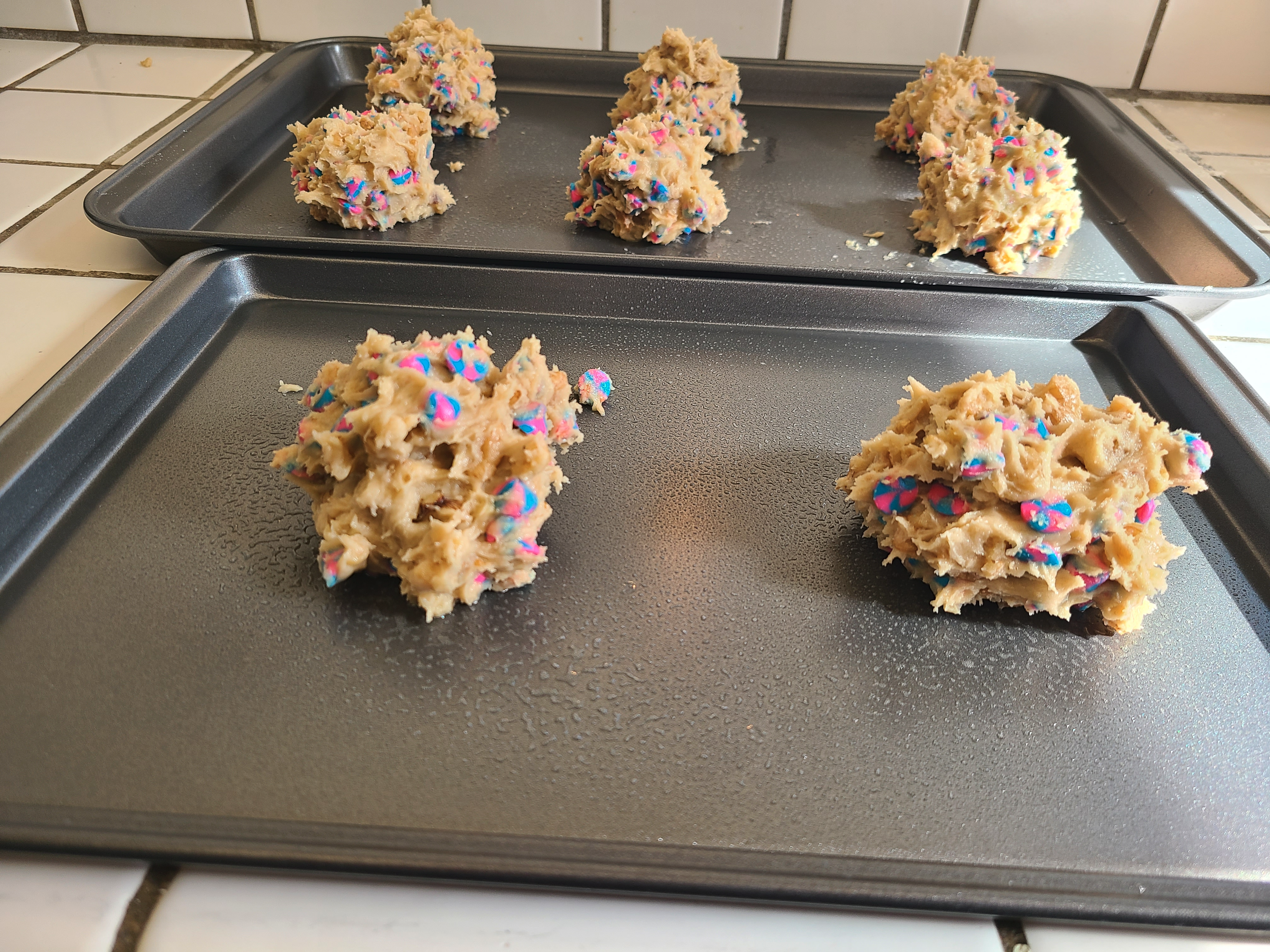unbaked cookies on a sheet
