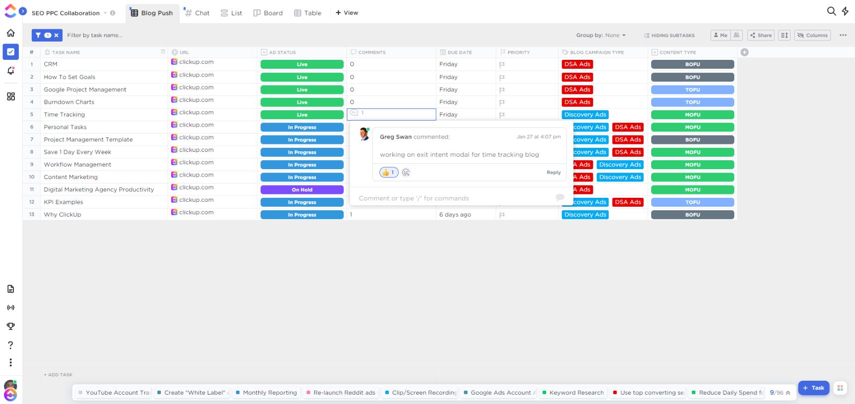 custom fields in clickup